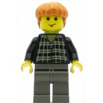 LEGO Harry Potter Minifigure Ron Weasley Black and White Plaid Shirt