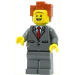 LEGO The Lego Movie Minifigure President Business - Smiling, Raised Eyebrows