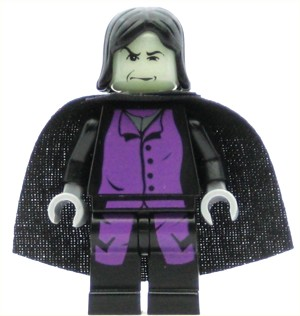 LEGO Minifigure Professor Snape Prisoner of Azkaban Pattern Light Bluish Gray Hands