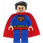 LEGO Super Heroes Minifigure Superman Blue Suit, Tousled Hair (76096)