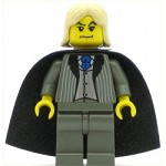LEGO Harry Potter Minifigure Lucius Malfoy Dark Gray Suit Torso Dark Gray Legs