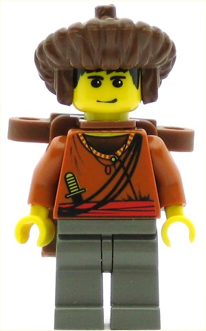 LEGO Minifigure Sherpa Sangye Dorje with Backpack