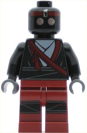 LEGO Teenage Mutant Ninja Turtles Minifigure Foot Soldier Dark Red