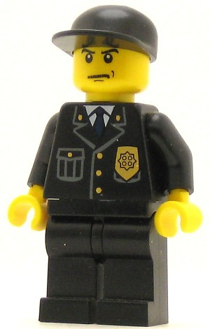 LEGO Town Minifigure Town Police Suit with Blue Tie