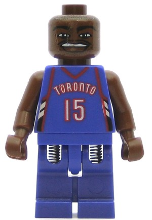 LEGO Sports Minifigure NBA Vince Carter Toronto Raptors #15 Road Uniform