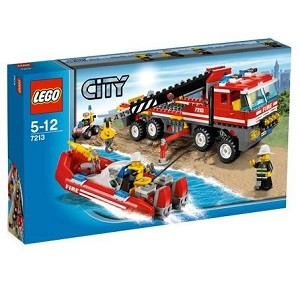 LEGO 7213 City Off-Road Fire Truck & Fireboat