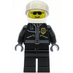 LEGO Town Minifigure Police Leather Jacket with Gold Badge and Black Sunglasses