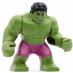LEGO Super Heroes Minifigure Hulk with Black Hair and Magenta Pants