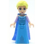 LEGO Disney Princess Minifigure Elsa - Medium Blue Long Narrow Cape (41148)