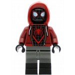 LEGO Spider-Man Minifigure Spider-Man (Miles Morales) Dark Red Hood