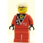 LEGO Town Minifigure Divers Red Diver 2 White Cap