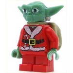 LEGO Star Wars Minifigure Yoda with Backpack Santa Yoda