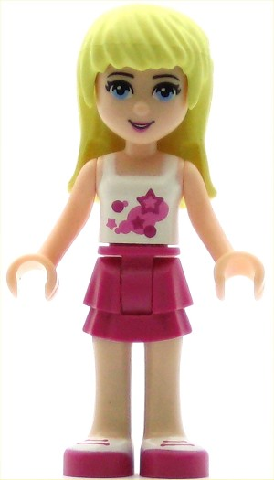 LEGO Friends Minifigure Stephanie with Magenta Layered Skirt