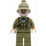 LEGO Indiana Jones Minifigure Henry Jones Sr. Dark Tan Pith Helmet