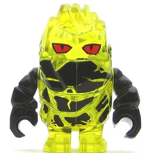 LEGO Power Miners Minifigure Power Miner Rock Monster Combustix Trans-Yellow