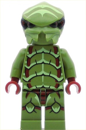LEGO Space Minifigure Alien Buggoid Olive Green