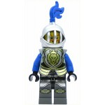 LEGO Castle Minifigure Castle - Lion Knight Armor with Lion Head with Crown, Helmet with Fixed Grille, Blue Plume