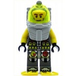 LEGO Atlantis Minifigure Diver Axel With Yellow Flippers and Trans-Yellow Visor