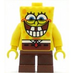 LEGO Minifigure SpongeBob grin with bottom teeth (Set 3833)