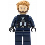 LEGO Super Heroes Minifigure Captain America - Blue Suit, Black Hands