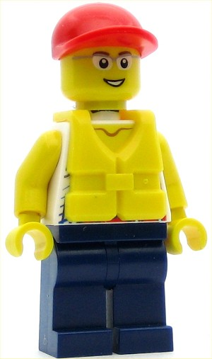 LEGO Town Minifigure Coast Guard City - Dinghy Passenger Male