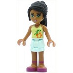 LEGO Friends Minifigure Nicole Light Aqua Layered Skirt