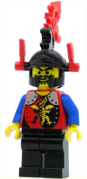 LEGO Castle Minifigure Dragon Knights Knight Dragon Helmet Red Plumes