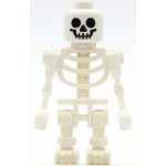 LEGO Minifigure Skeleton Fantasy Era Torso with Standard Skull Mechanical Arms Bent