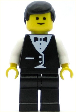 LEGO Town Minifigure Vest Formal Waiter
