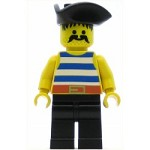 LEGO Pirates Minifigure Pirate Blue White Stripes Triangle Hat