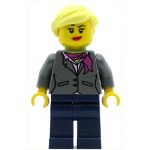 LEGO Ideas Minifigure Research Scientist Female Magenta Scarf