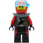 LEGO Town Minifigure Scuba Diver, Male without Flippers (60095)
